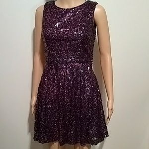 Hailey Logan sequins dress fit and flare